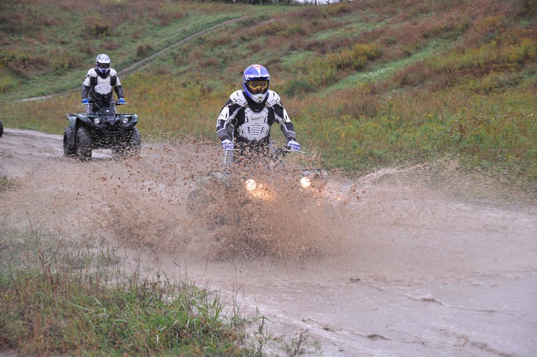 Yamaha Riding Adventures ATV through the mud