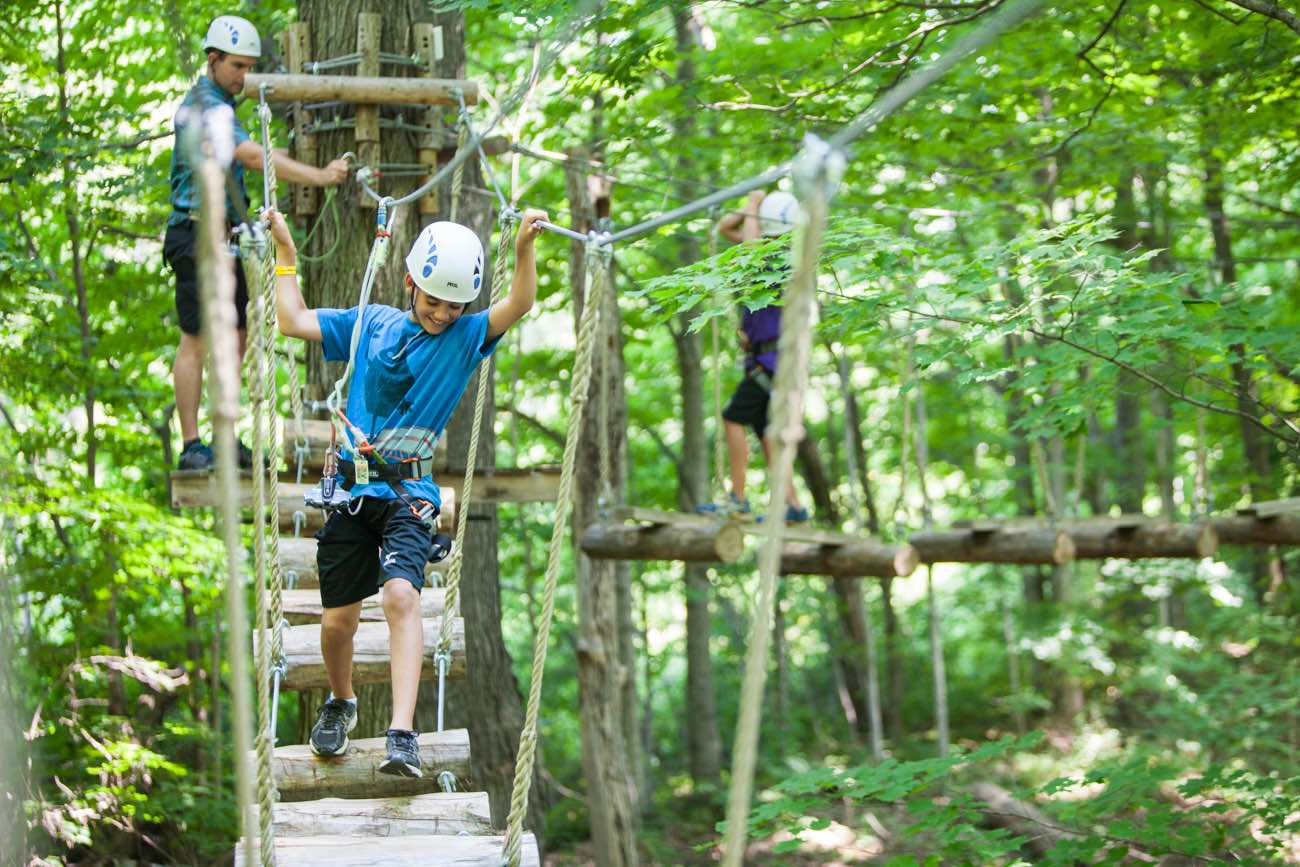 Treetop Climbing in Horseshoe Valley