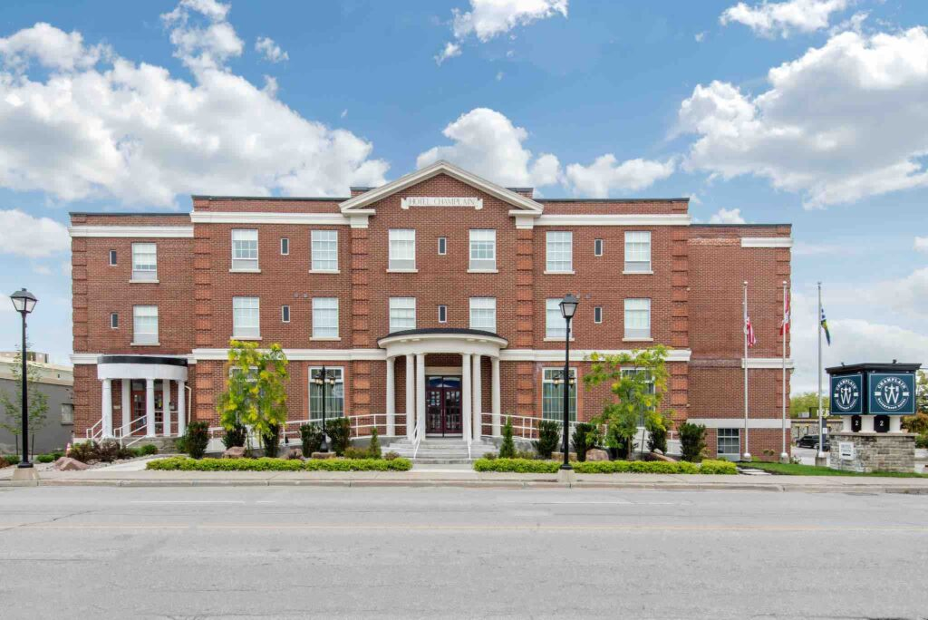 Champlain Waterfront Hotel exterior of one of top hotels in Orillia