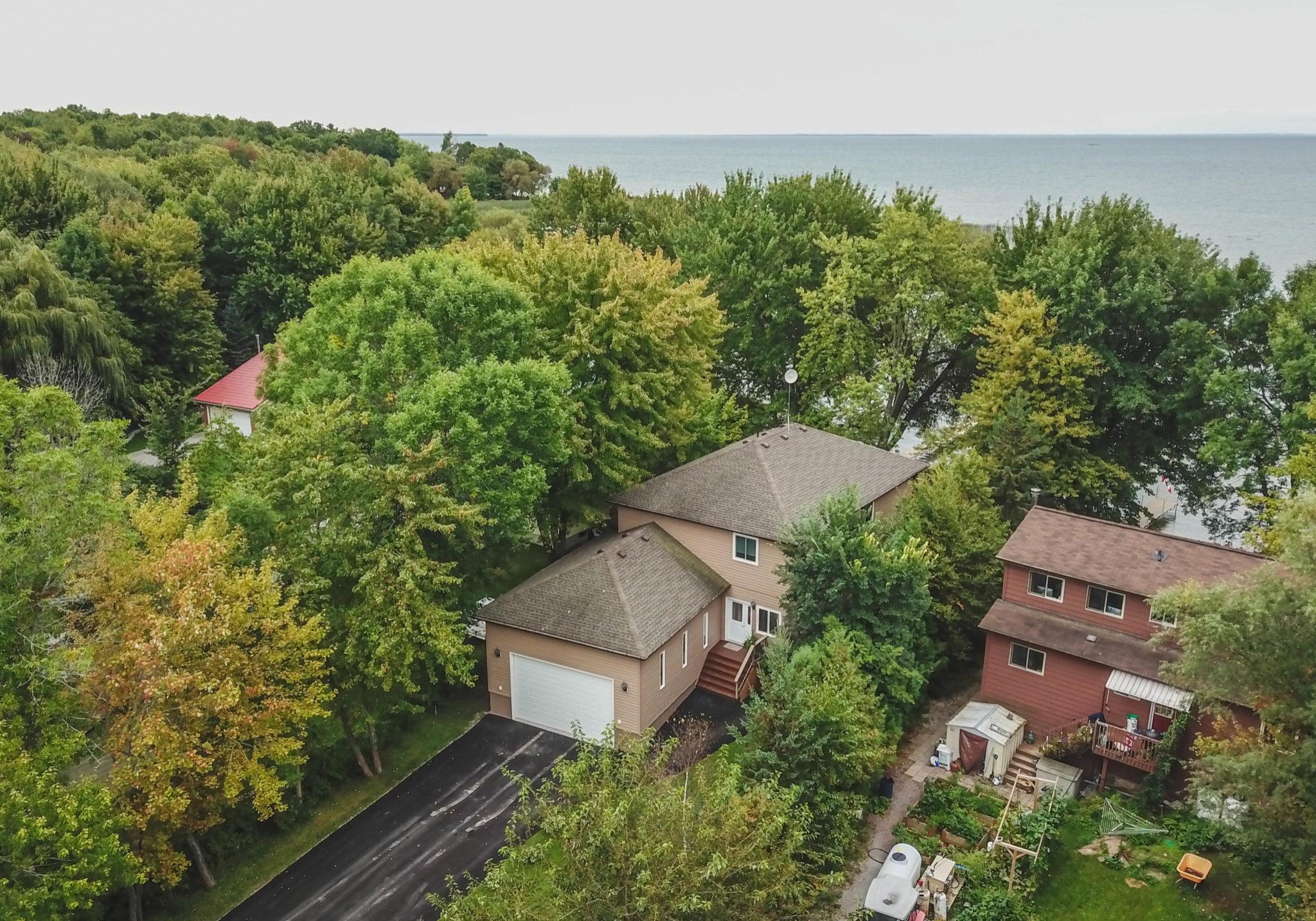 Joyland Beach cottage aerial view